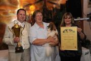 Tommy verbandsieger avond in Langerwehe 2011 met jaarbokaal 2010